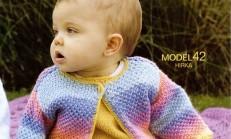 Ebruli İp Tek Düğmeli Bebek Hırkası Modeli