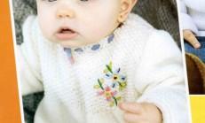 İşlemeli Örgü Bebek Elbisesi Modeli