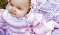 Tığ İşi Örgü Bebek Elbise ve Şapka Modeli