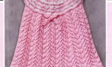 Pembe Renkli Kolsuz Bebek Elbise Modeli