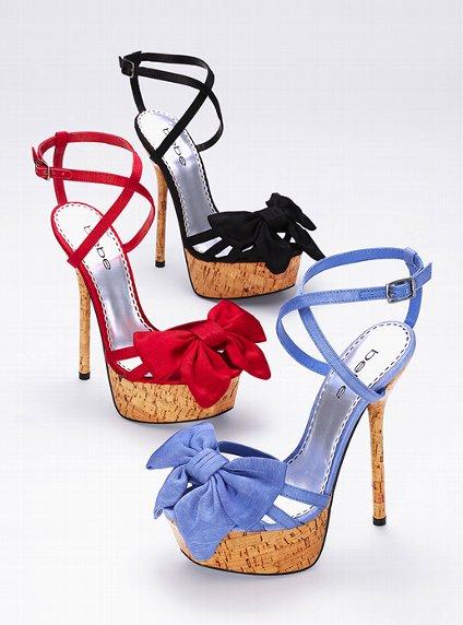 Fiyonklu çapraz bağlamalı mantar topuklu platform ayakkabı