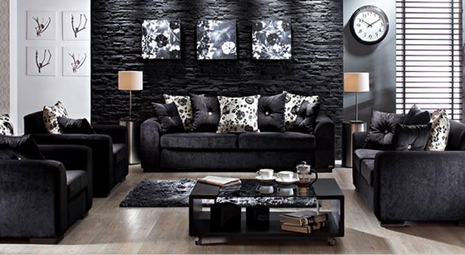 FormatFactory2013 siyah modern koltuk takımı
