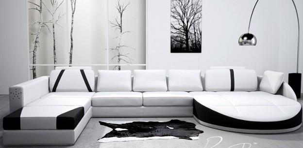 FormatFactorysiyah beyaz modern koltuk takımı
