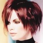 Kızıl Kısa Saç Modelleri 2012