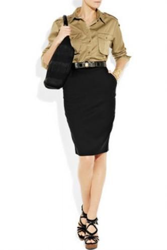 Klasik siyah dizüstü dar etek modeli 2012
