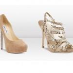 Savaroski taşlı ten rengi ayakkabılar