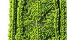 Yaprak Ajurlu Panel Örgü Modeli