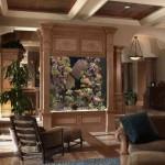 ahşap çerçeveli modern akvaryum tasarımı