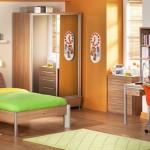 ahşap çilek genç odası tasarımı aynalı gardolap
