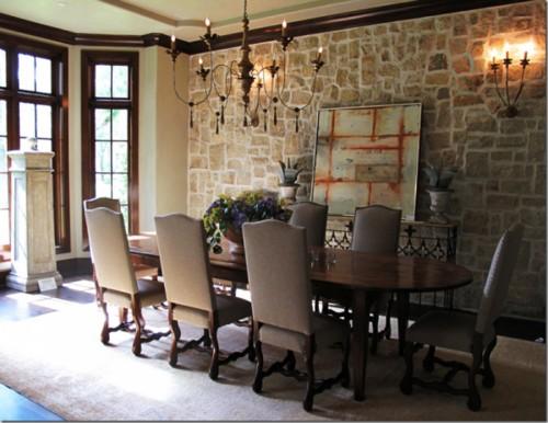 ahşap uzun klasik yemek masası tasarımı