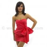 anvelop straplez süper mini fiyonklu elbise modeli
