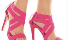 Pembe ayakkabı modelleri