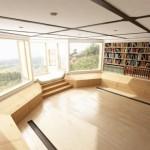 büyük ev kütüphanesi tasarımı