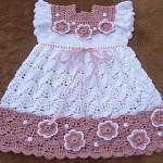 baharlık kız bebek örgü jile modeli