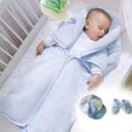 battaniyeli polar bebek uyku tulumu