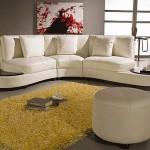 beyaz deri modern l koltuk takımı