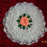 beyaz ortası çiçekli lif