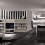 beyaz tv ünitesi kitaplık tasarımı
