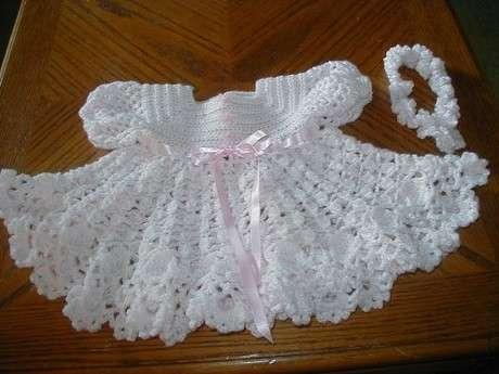 beyaz yazlık elbise kız çocuk örgü modeli