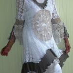 bol  el işi dantel bayan tunik modası