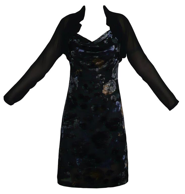 bolerolu şık yeni model kışlık elbise