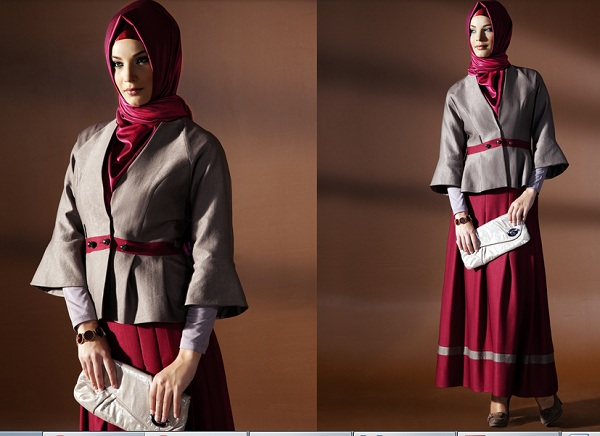 ceket ve uzun etekli bayan takım modeli