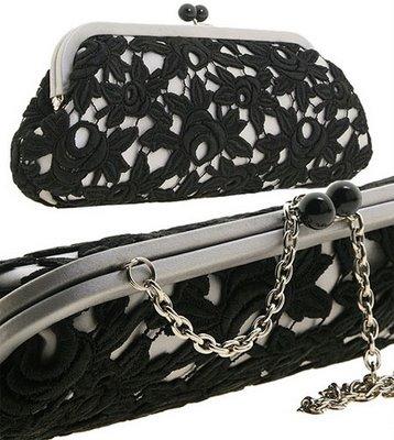 dantelli şık el çantası modelleri
