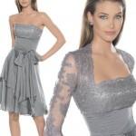dantelli en güzel fiyonklu elbise modeli