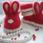 değişik tavşanlı bebek patik modeli