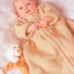 el örgüsü çok şirin bebek uyku tulumu