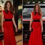 en güzel ünlülerin kırmızı elbiseleri