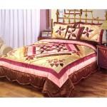 en güzel patchwark yatak örtüsü modeli