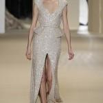 en güzel simli derin yırtmaçlı elbise modelleri