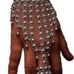 en modern telkari gümüş takı eldiven