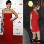 en trend ünlülerin kırmızı elbiseleri