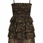 en yeni trend askılı büzgülü fırfırlı şifon elbiseler