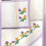 etamin işlemeli çarşaf yastık takımı