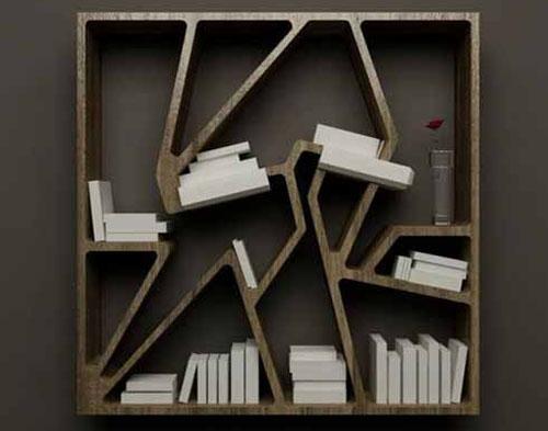 farklı yaratıcı ahşap kitaplık tasarımları