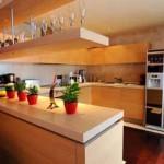 feng shui amerikan mutfak tasarımı siyah buzdolabı