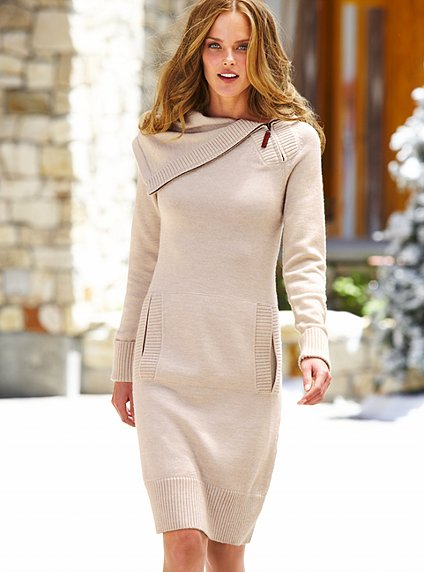 geniş yakalı en güzel kışlık elbise