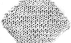 Geometrik Örgü Motifleri Baklava ( iki şişle kare )