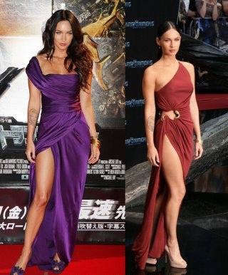 iki farklı en güzel derin yırtmaçlı elbise modelleri