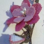 inci çiçekli yazma oya modeli