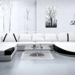 italyan modası siyah beyaz köşe koltuk takımı mobilyaları