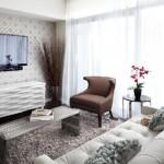 küçük şirin oturma odası dekorasyonları