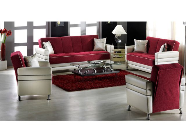 kırmızı modern koltuk takımı