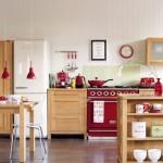 kırmızı modern mutfak aksesuarları