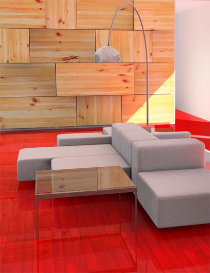 kırmızı parke tasarımı modeli
