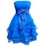kabarık etekli fiyonklu elbise modeli