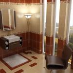 kahverengi krem banyo seramik modeli